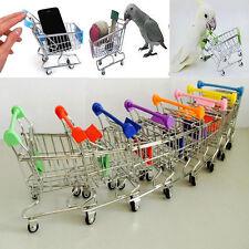 Mini Supermarket Shopping Cart Parrot Bird Intelligence Growth Training Kids Toy