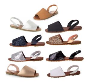 ELLA Palma Womens Slingback Flat Menorcan Open Toe Spanish Sandals Colours