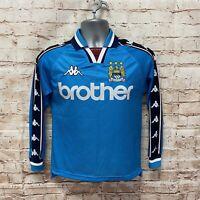 Manchester City Kappa Brother Football Shirt - 1997-99 - Fast P&P