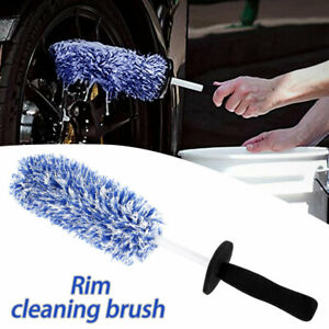 Car Wheel Cleaning Brush Tool Tire Washing Clean Alloy Soft Bristle Cleaner Tool