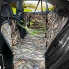 Camo Dog Seat Cover for Pets, Car Back Seat Cover Hammock with Side Flaps,