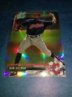 JUAN HILLMAN  2017 BOWMAN CHROME DRAFT CARD BDC-28 INDIANS (ROOKIE REFRACTOR)