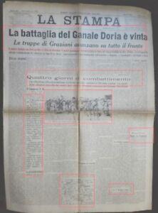 WW2*AFRICA ORIENTALE LA BATTAGLIA DI GANALE DORIA E' VINTA-NEMICO BATTUTO*N.3199