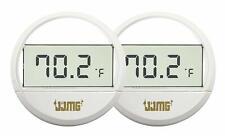 NEW JJMG 2pcs Mini Aquarium LCD Digital Display Thermometer Stick On Water Temp