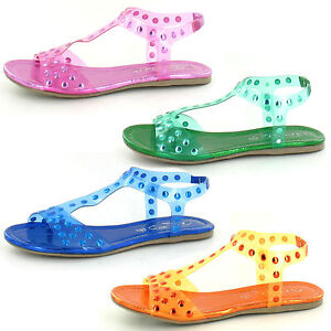 *SALE* LADIES SPOT ON GLADIATOR JELLY STYLE SHOES SUMMER SANDALS F0663