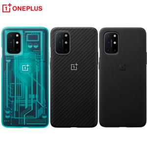 Original 100% For Oneplus 8T Case official Sandstone bumper Karbon Back Cover