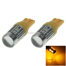 2x Yellow Car T10 W5W Tail Bulb Clearance Lamp Lens 10 5630 SMD LED A061