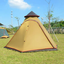 Indian Style Pyramid  Tent Tipi Camping Summer Festivals Hiking Outdoor Olive