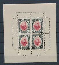LN74903 Nicaragua 1949 UPU anniversary good sheet MNH