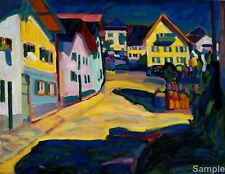 Wassily Kandinsky Murnau Burggrabenstrasse Painting Print Picture A4