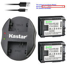 Kastar Battery Dual Charger for Canon BP-808 CG-800 & Canon FS22 FS31 Camcorder