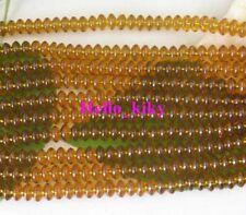 6 strands light topaz Glass beads flat round 8mm M2616