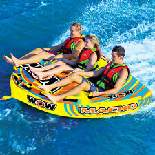 WOW Watersports Macho 3 Rider Inflatable Water Deck Tube Boat Towable 16-1030