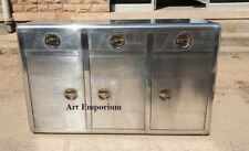 Aviator Sideboard Alumunim Aviator Sideboard with Three Drawers and three Doors