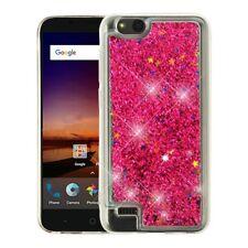 Hot Pink Quicksand Glitter ZTE N9137 Tempo X Z839 Blade Vantage Fanfare 3
