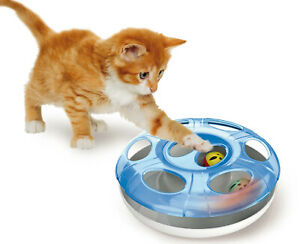 Cat Ball Toy Interactive UFO Cool Indoor Moving Kitten Play Chaser Puzzle Treat