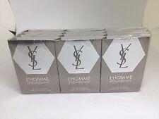 12X YSL L'HOMME by Yves Saint Laurent EDT .04oz/1.2ml ea SAMPLE NEW