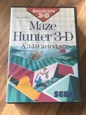 Master System:   MAZE HUNTER 3-D       en boite    PAL EUR