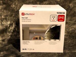 Utilitech Rope Light 24 Ft Indoor #0709156 NEW in Box