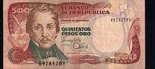EL BANCO DE LA REPUBLICA COLOMBIA 500 PESOS ORO 1993  (SC-7)