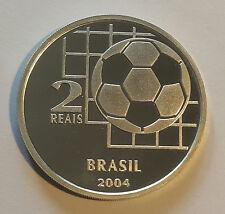 "BRAZIL / 2004 2 Reais ""FIFA Canteninial"" Proof !!"