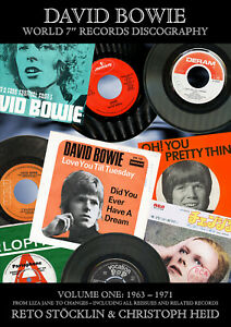 """DAVID BOWIE WORLD 7"""" RECORDS DISCOGRAPHY, VOLUME ONE: 1963 - 1971"""