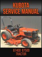 Kubota B7400  B7500 Tractor Workshop Service Repair Manual On USB Drive