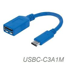 "6"" USB-3.1 Type-C Male to USB-3.1 Standard-A 9-Pin Female Adapter Cable"