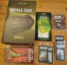 Esp camo Tackle Case plus cryogen gripper hooks, braid scissors ,pva and braid