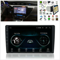 2Din Android 8.1 10.1'' Rotatable Screen Car Stereo MP5 GPS Radio BT 4G WiFi OBD
