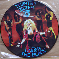 EX/EX TWISTED SISTER UNDER THE BLADE VINYL PICTURE DISC LP