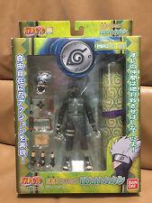 Naruto BANDAI 2003 KAKASHI HATAKE Ninja Action Figure with Scroll NRFB