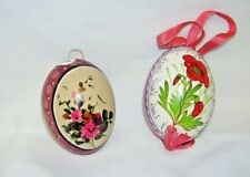 Vintage Set of Two Eggs Handpainted Poland