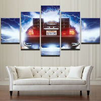 Back To The Future Movie Car 5 Pieces canvas Wall Art Print Picture Home Decor
