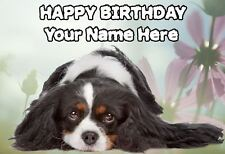 Cavalier King Charles Spaniel Dog Birthday Card PIDOA38  A5 Personalised