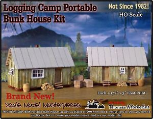 Scale Model Masterpieces/Yorke Logging Camp Portable Bunk House Kits HO