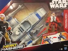 Disney Star Wars Hero Mashers X-Wing And Pilot Action Figures EPISODE VII