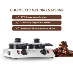 Commercial Electric Chocolate Melting Machine Milk Heating Pot 240V Non-stick CE