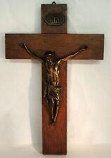 altes Kreuz Wandkreuz Kruzifix Holz  30cm Jesus Christus