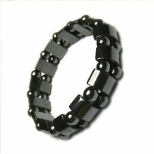 Fashion Black Magnetic Hematite Healing Mens Womens Loose Beads Bracelet