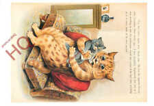 Picture Postcard_ Louis Wain, Cat Feeding, Tas Collectables