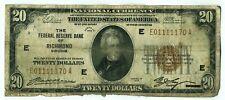 FR. 1870E 1929 $20 Federal Reserve Bank Note Richmond Brown Seal