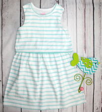 VINEYARD VINES🌷Adorable Aqua White Striped Knit Dress 🌷Girl Size 5/6