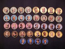 2007-2015 Colorized Set Of President Dollar Coins - P Mint (Colorized Head Only)