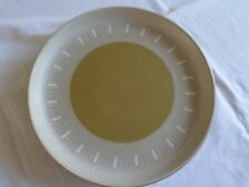"Denby Ode Dinner Plate 10"" Brown Mustard Pattern"