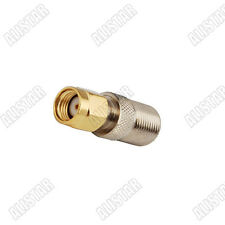 Adapter RP SMA male plug to F Type jack female straight