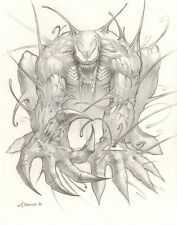 Venom Pencil Commission - 2008 Signed art by Dimitri Patelis