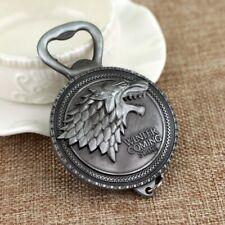 Game of Thrones Schlüsselanhänger Flaschenöffner silber Haus Stark GoT Design
