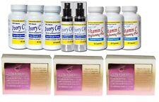 Ivory Caps Skin Whitening Glutathione (System 3) + 3x Whitening/Peeling Soaps