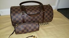 My poupette AUTH LOUIS VUITTON DAMIER EBENE PAPILLON 30 EXCELLENT CONDITION